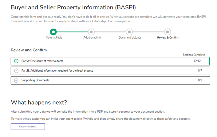 Image picture of BASPI part 4 review and confirm home buying and selling group twindig anthony codling